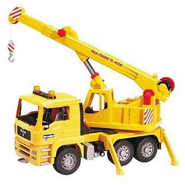 Mechanical toy BRUDER MAN Crane truck