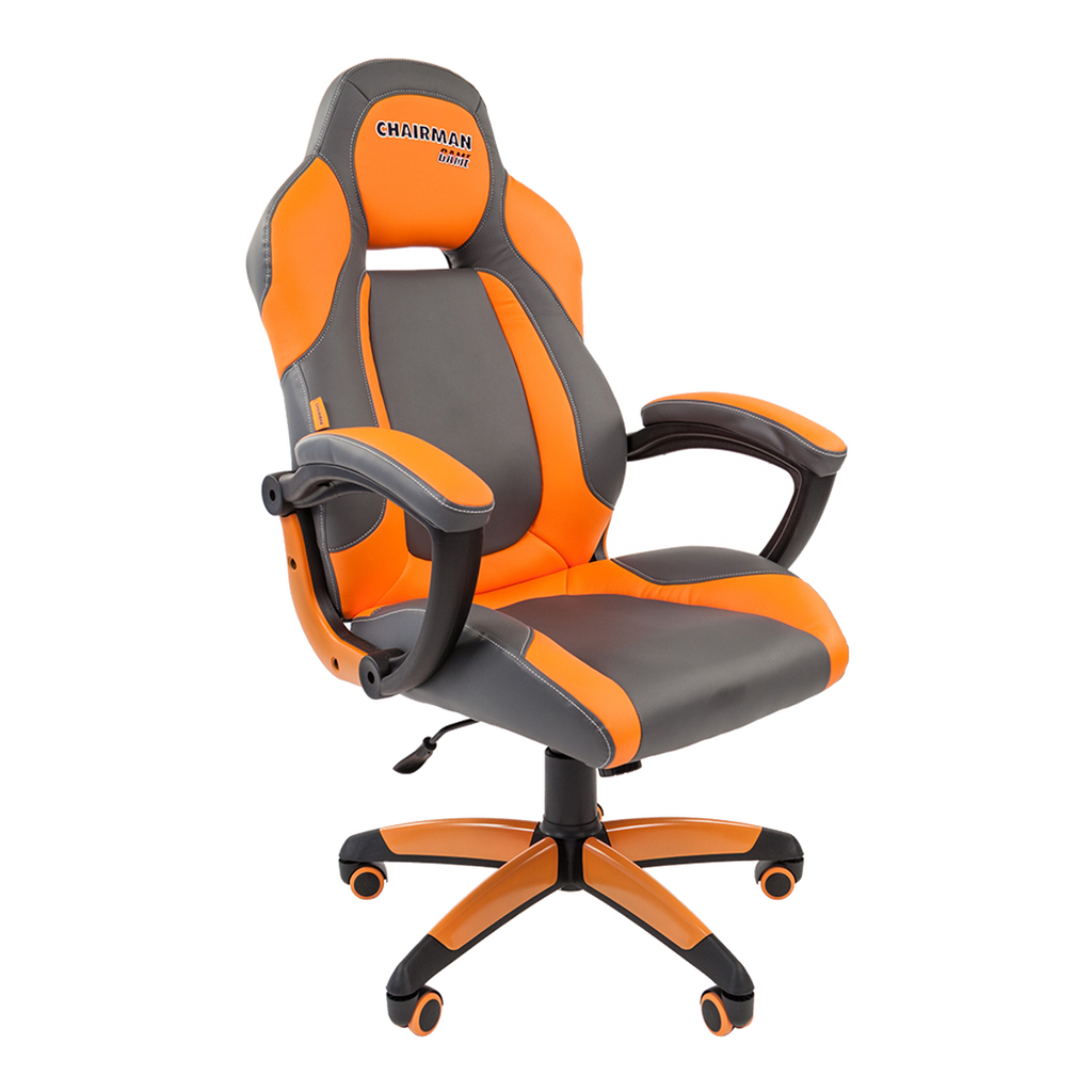 Picture of: Office Chair Chairman Game 20 Eco Leather Grey Orange Free Delivery Throughout Latvia