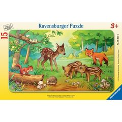 Пазл RAVENSBURGER Animal babies in the Forest
