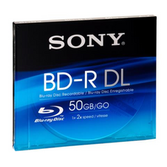 Disks SONY Bnr50Av Blu-Ray Rw Duallayer 50Gb