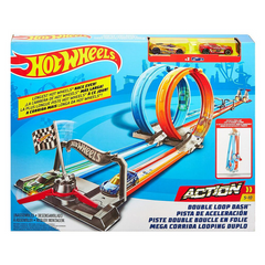 Trase HOT WHEELS Double Loop Dash Track Set