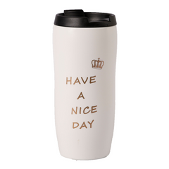 Tермокружка EVELEKT Have A Nice Day  400ml White