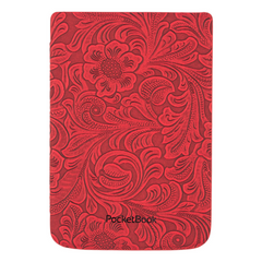 "Cover POCKETBOOK Shell Cover 6"" Red Flowers"