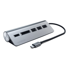 USB концентратор SATECHI Type-C USB3.0 Hub+Card Reader Space Grey