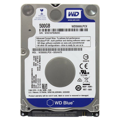 Cietais disks WD Blue Mobile 500GB HDD Sata 6Gb/s