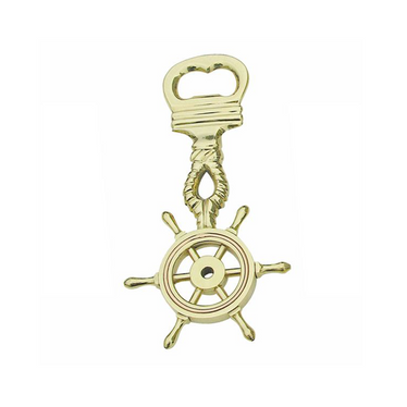 Dekoratīvā figūriņa SEA CLUB Bottle Opener- Wheel Brass With Copper Ring