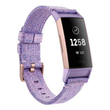 Viedpulkstenis FITBIT Charge 3 Lavender Woven Rose Gold Aluminium