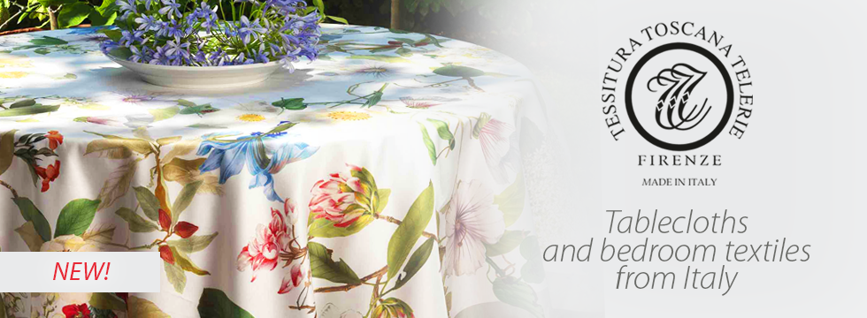 Tessitura Toscana - tablecloths and bedroom textiles from Italy!