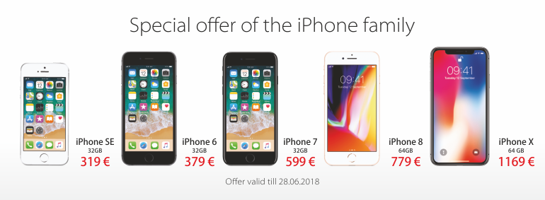 Special offer of the iPhone family!