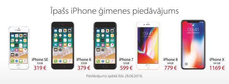 Īpašs iPhone ģimenes piedāvājums!
