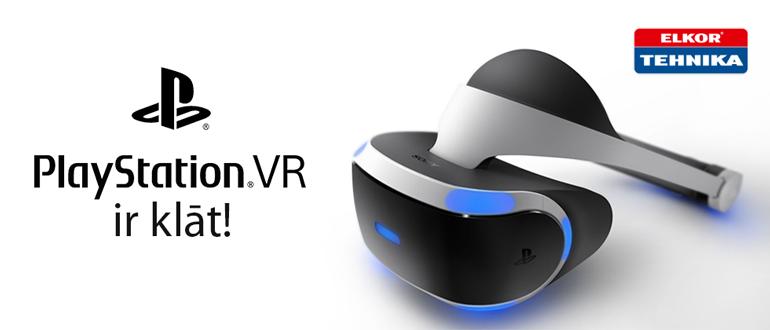 PlayStation VR ir klāt!