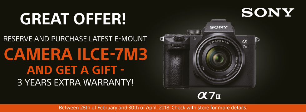 Great offer - Sony A7III camera!