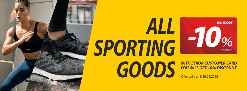 All sporting goods -10%!