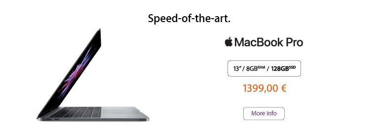 Speed of the art - MacBook Pro!