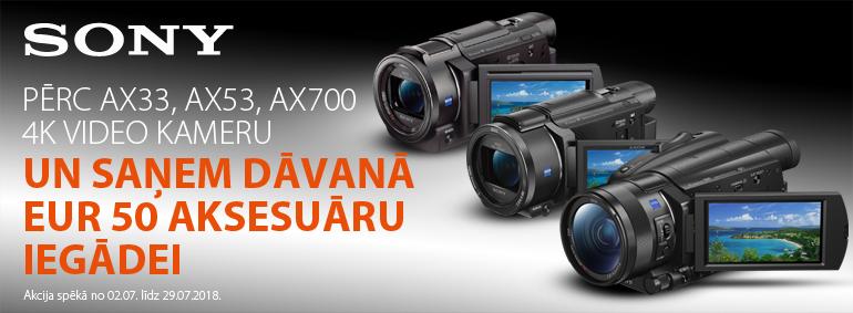 Pērc Sony 4K video kameru un saņem dāvanu!