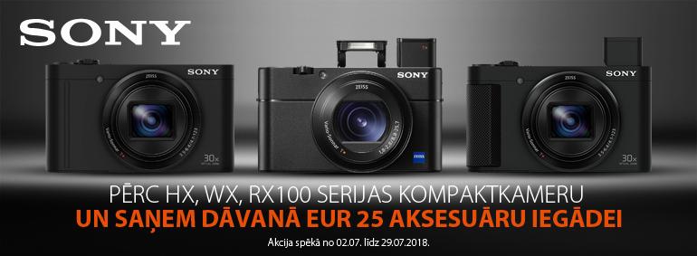 Pērc Sony kompaktkameru un saņem dāvanu!