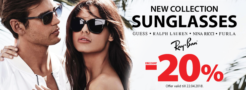 New collection sunglasses -20%!