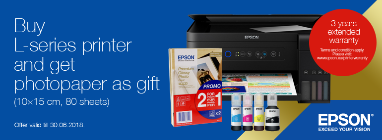 Buy L- series printer and get a gift!