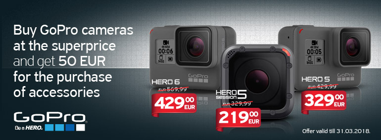 Buy GoPro cameras and get 50 EUR!