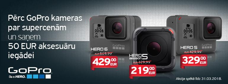 Pērc GoPro kameras un saņem 50 EUR!
