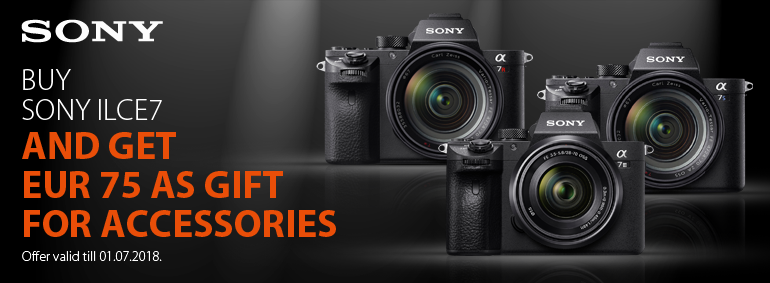 Buy Sony ILCE7 and get a gift!