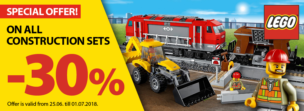 On all construction sets -30%!