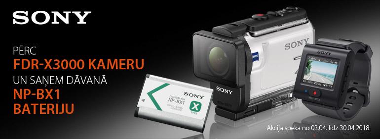 Pērc Sony FDR-X3000 un saņem dāvanu!