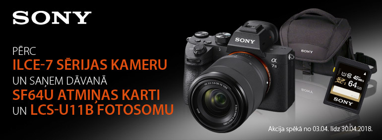 Pērc Sony ILCE-7 un saņem dāvanu!