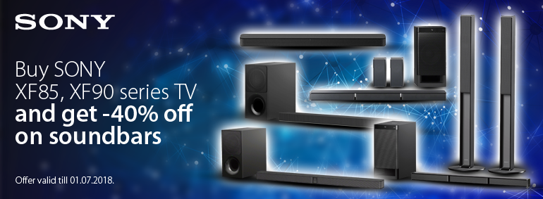 Buy Sony XF85, XF90 TV and get a discount!