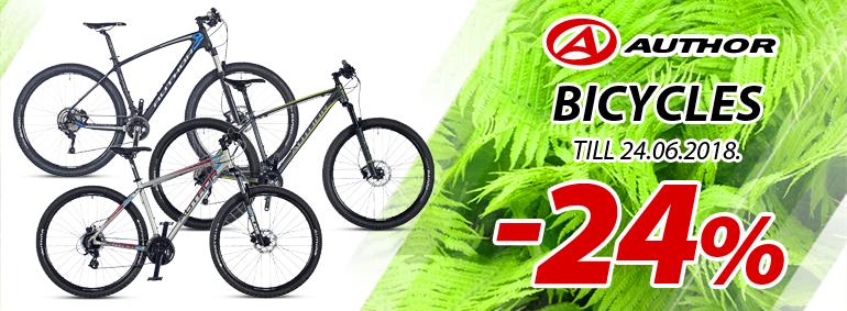Author bicycles -24%!