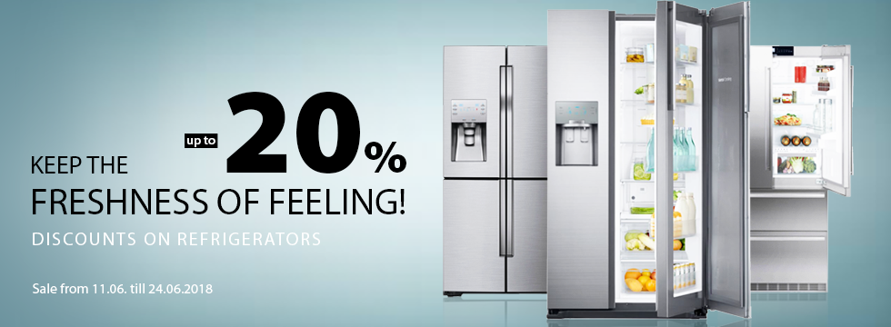 Discounts on refrigerators up to -20%!