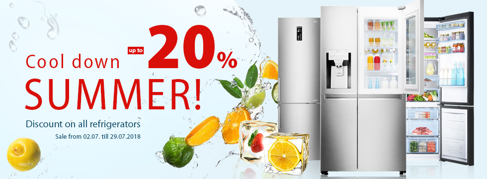 Cool down summer! Discount up to -20%!
