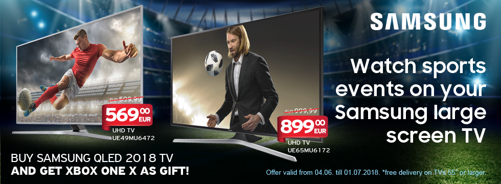 Watch sports events on your Samsung large screen TV!