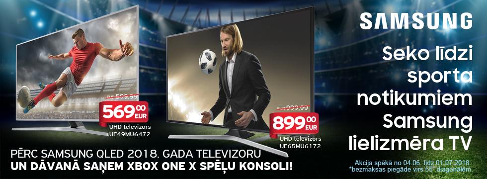 Seko līdzi sporta notikumiem ar Samsung lielizmēra TV!