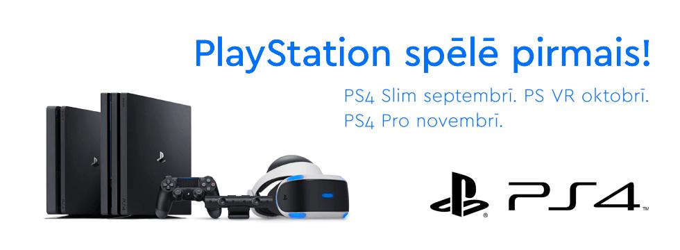 PlayStation spēlē pirmais!