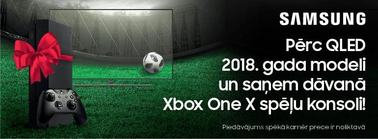 Pērc Samsung QLED un saņem Xbox One X dāvanā!