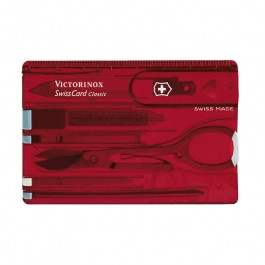 Buy Tool kit VICTORINOX Swiss-Card,red translucent 0.7100.T Elkor