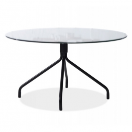 Buy Coffee table TENZO Lola Glass Top + Leg Black 9009307090+9349824 Elkor