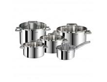 Buy Set of pots TEFAL Duetto Full SS Set 10pcs A705SC84 Elkor