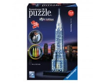 Pirkt 3D puzzle RAVENSBURGER Chrysler Building - Night Edition R12595 Elkor