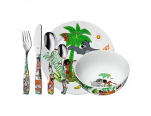 Pirkt Trauku komplekts WMF 6-pc Child's Set Jungle 1283309964 Elkor