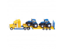 Set of cars SIKU Truck with New Holland Tractors Truck with New Holland Tractors