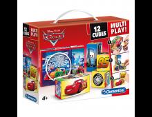 Bērnu klucīši CLEMENTONI Cars Cubes 12 Multi Play  Cars Cubes 12 Multi Play