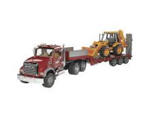 Купить Механическая игрушка  BRUDER Granite truck loader with JCB 4CX   02813 Elkor