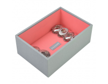 Шкатулкa для ювелирных изделий LC DESIGNS Mini Open Dove Grey  with Coral Lining Mini Open Dove Grey  with Coral Lining