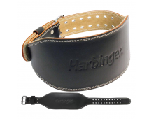 Buy Fitness belt HARBINGER 6''Padded Leather Belt Black 28510 Elkor