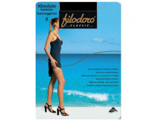 Zeķes FILODORO Absolute Summer 8 Autoreggente Black Absolute Summer 8 Autoreggente Black