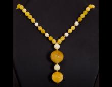 Купить Украшение для шеи COMES Amber yellow N AS-2 shar-2-1 Elkor