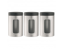 Buy Food storage BRABANTIA Matt Steel 1.4l 335341 Elkor