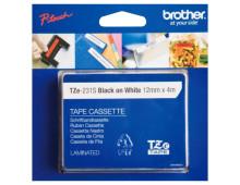Laminated adhesive tape BROTHER Laminated Labeling Tape Black on White 12mmx4m Laminated Labeling Tape Black on White 12mmx4m